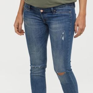 H&M// mama skinny fit maternity jeans, size 8